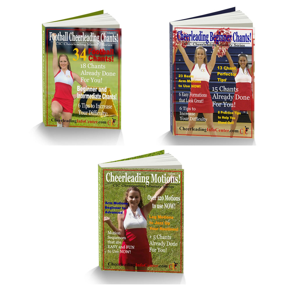 Learn Cheerleading Chants and Motions - Cheerleading Mastery Series 3 Book Set - Cheer and Dance On Demand