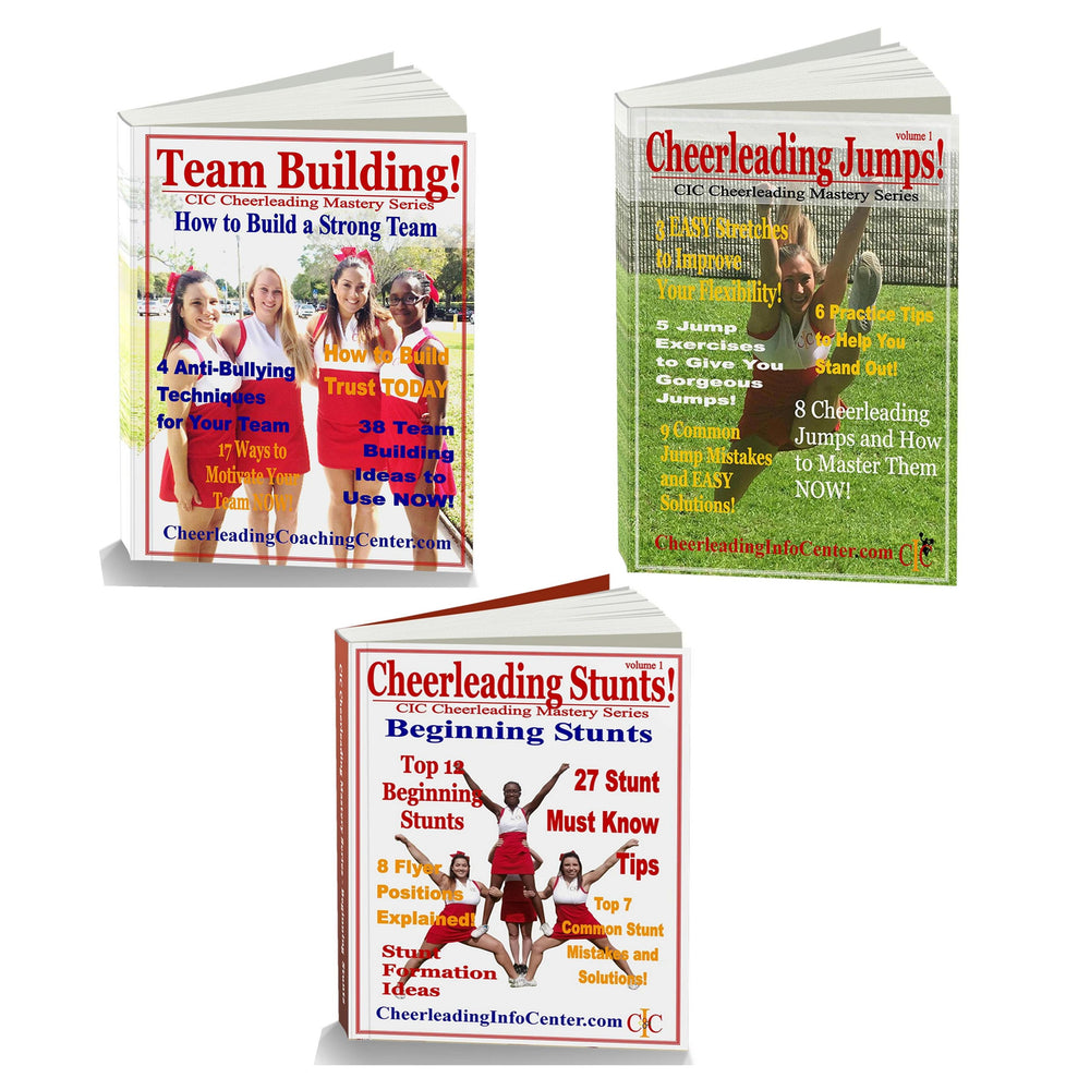 Cheerleading Jumps, Cheerleading Stunts and More! - Cheerleading Mastery Series 3 Book Set