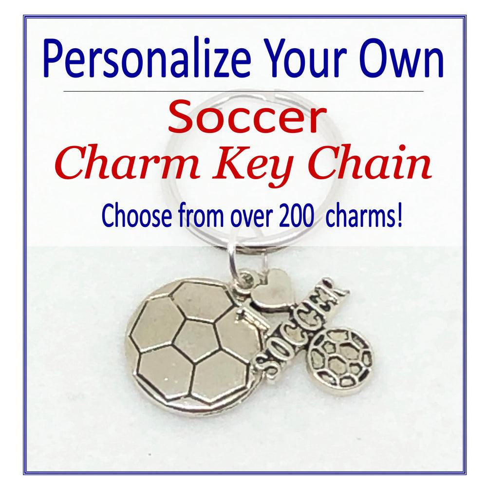 Create Your Own Soccer Charm Key Chain, Cheerleading Accessories