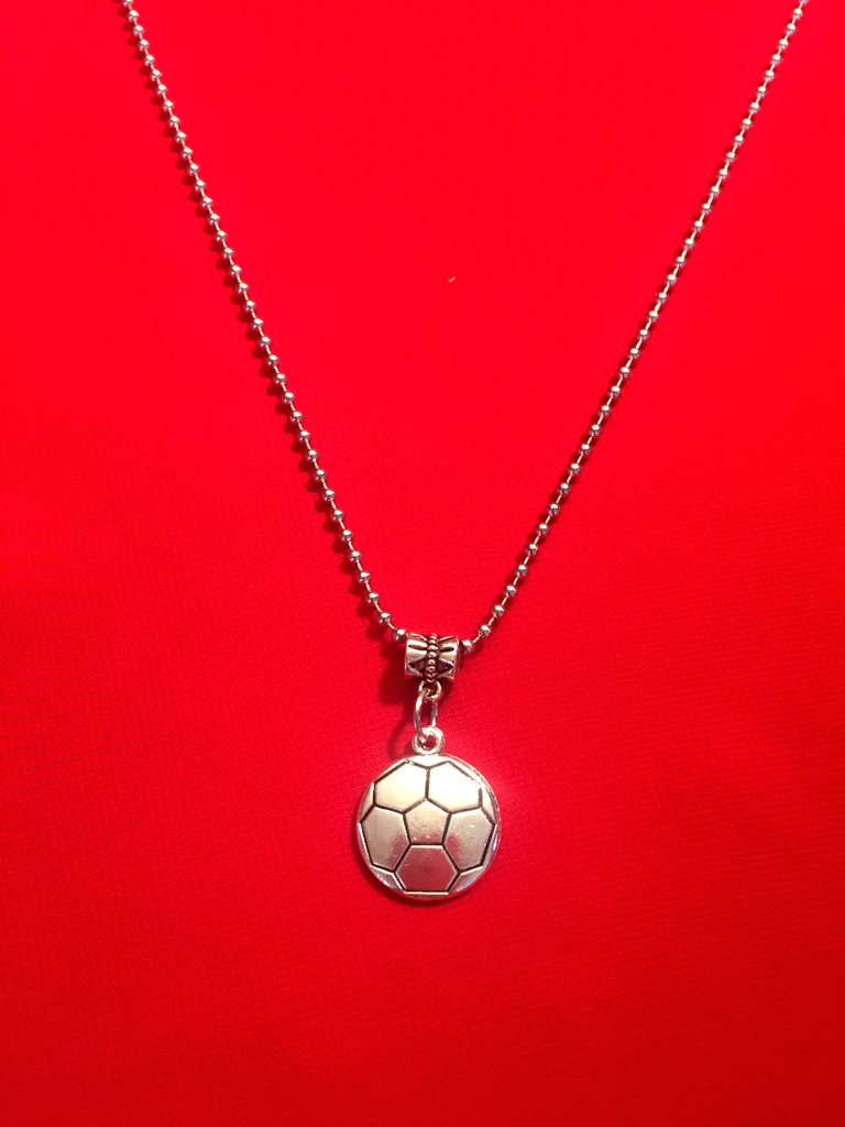 Soccer Charm Necklace - Soccer Ball Flat