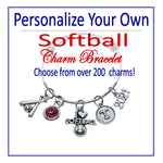 Create Your Own Softball Charm Bracelet