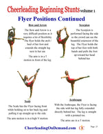 Cheerleading Beginning Stunts Ebook - How to Do Cheerleading Stunts - Cheer and Dance On Demand
