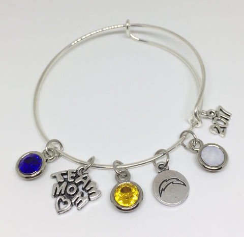 Coral Springs Chargers TEAM MOM Charm Bracelet