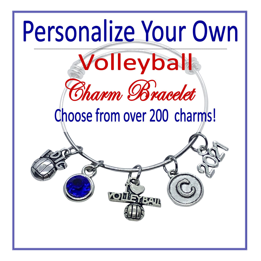 Create Your Own Volleyball Charm Bracelet - Cheer and Dance On Demand