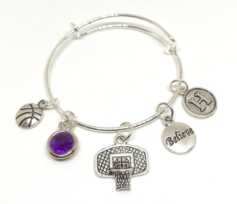 Basketball Charm Personalized Bracelet - Cheer and Dance On Demand