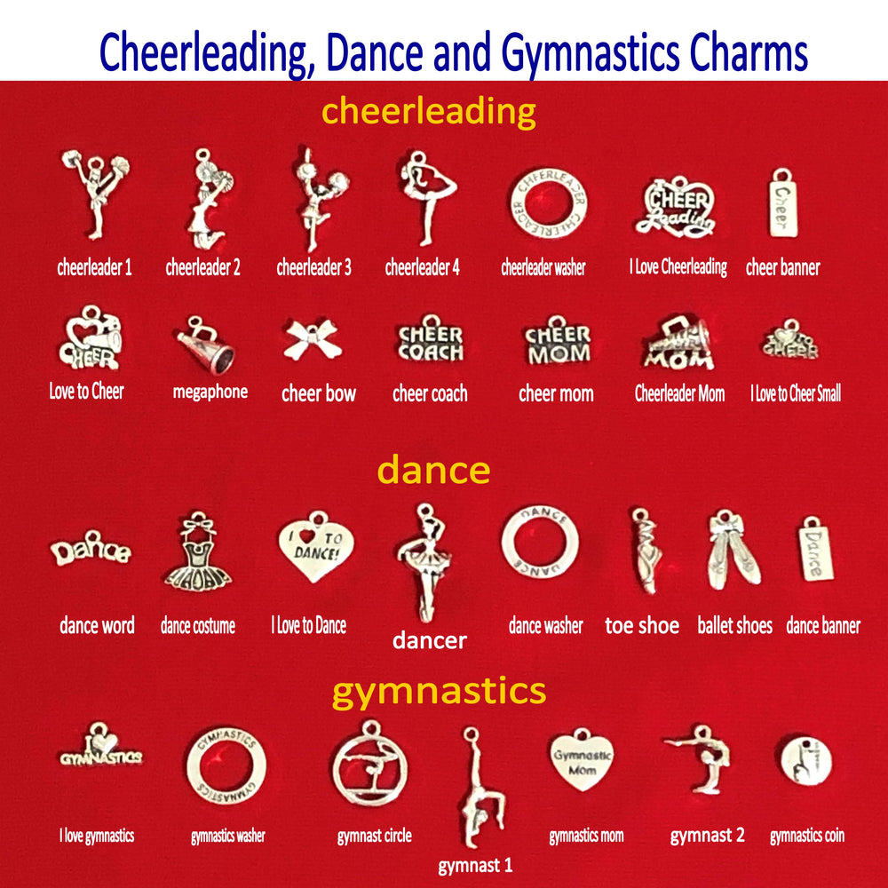 Create Your Own Cheerleading Charm Key Chain, Cheerleading Accessories - Cheer and Dance On Demand