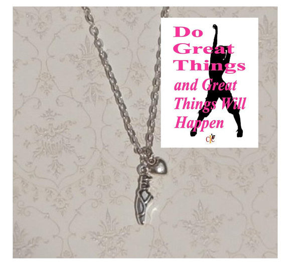 Dance, Ballet Shoe Charm Necklace
