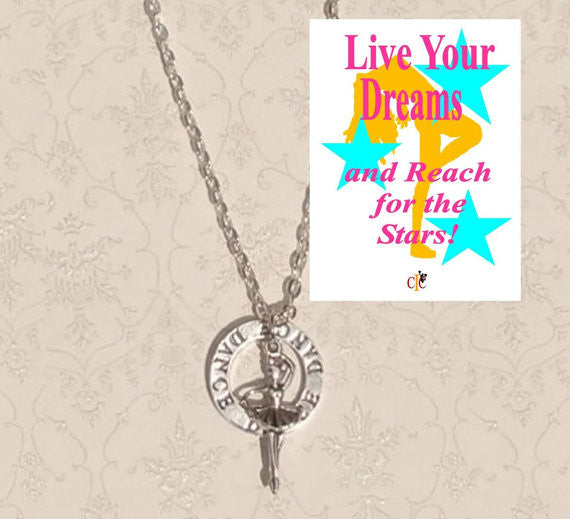 Dance Charm Necklace - Cheer and Dance On Demand