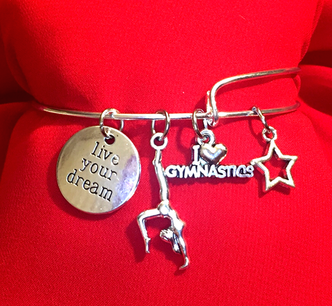 Gymnastics Charm Bracelet - Live Your Dream