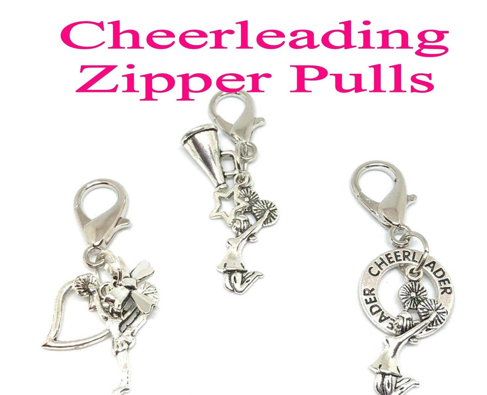 Cheerleading Zipper Pulls, Cheerleading Accessories