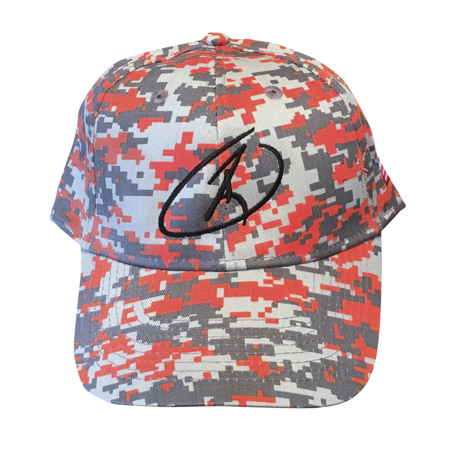 Orange Digital Camo Cap