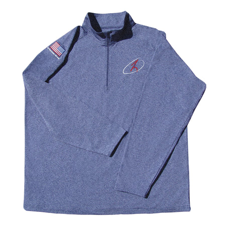 RJO Women's - Athetic Quarter Zip - Red, White, and Blue Logo