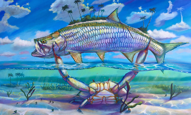 Trophy Tarpon on Canvas