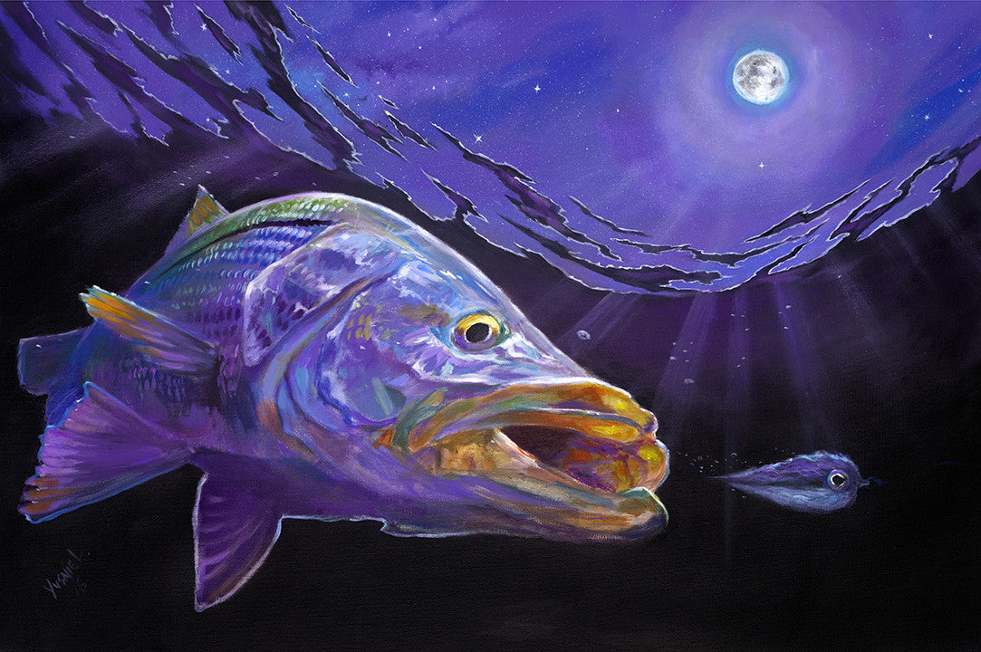 Snook Under the Full Moon