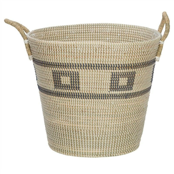 Coosan Aztec Seagrass Basket with Handle