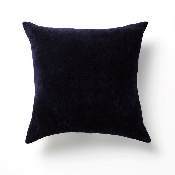 Velvet Linen Backed Cushion w zip detail