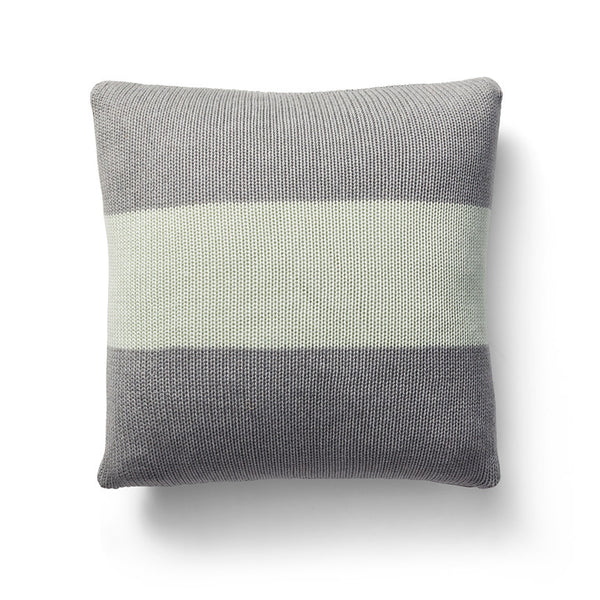 Bold stripe moss stitch cushion