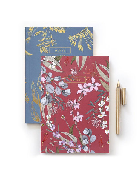 Bespoke Letterpress 2 Pack Bush Blossom Notebook