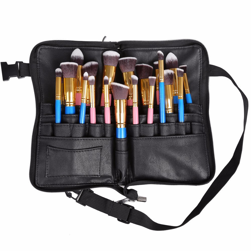 28 Pocket Zippered Makeup Brush Belt