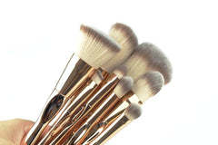 Professional 8pc Gold Luxe Brush Set