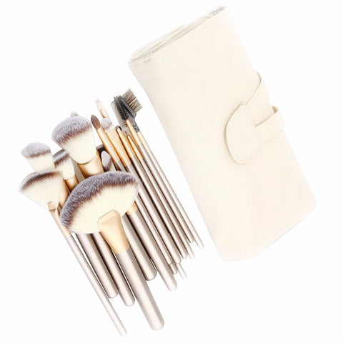 18 pc Professional Pewter Brush Set