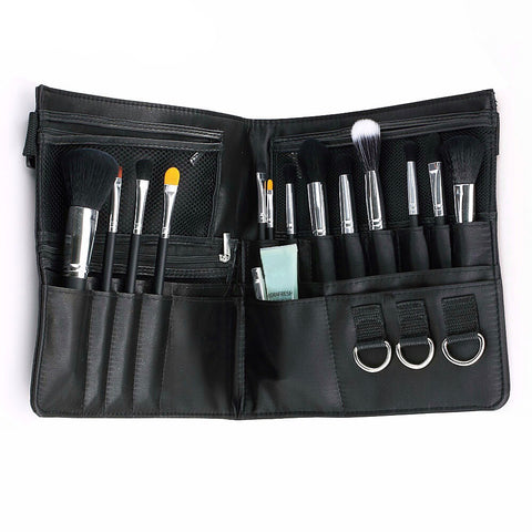 Professional 29 Pocket Zipper Makeup Brush Tote