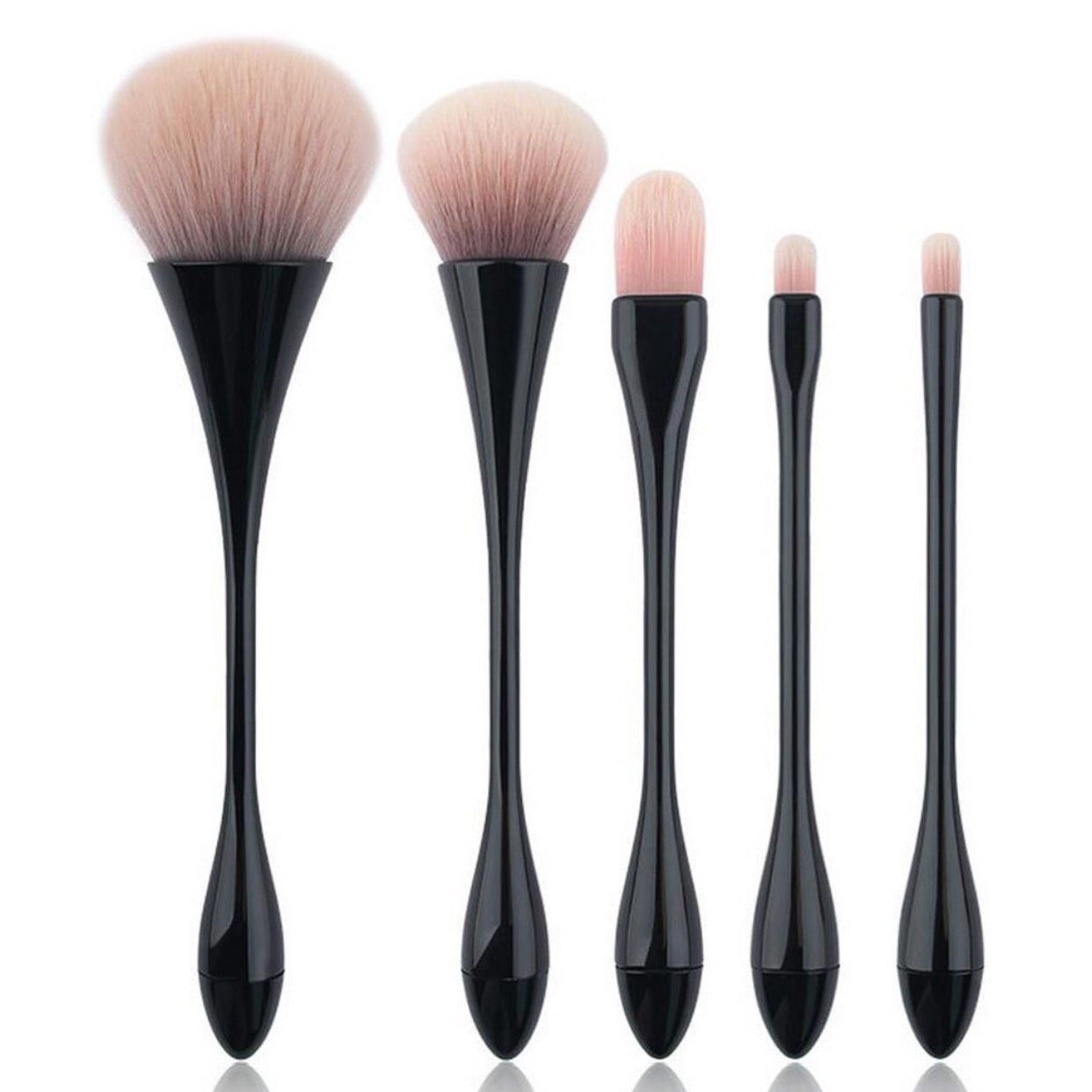 5 Pc Hourglass Brush Set