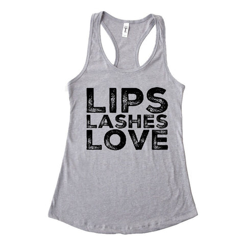 Lips Lashes Love Tank (5 colors available)