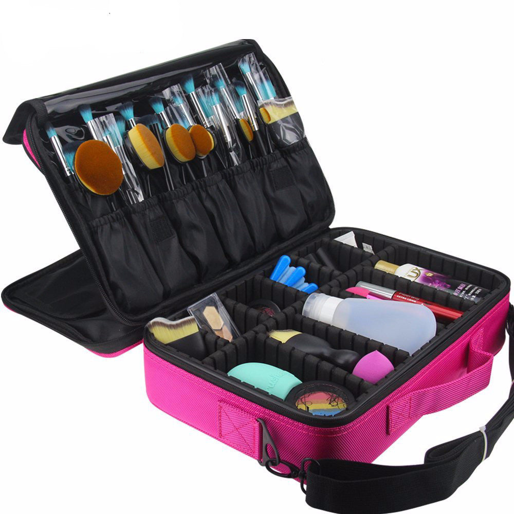 Professional Pink Four Layer Makeup Storage Organizer