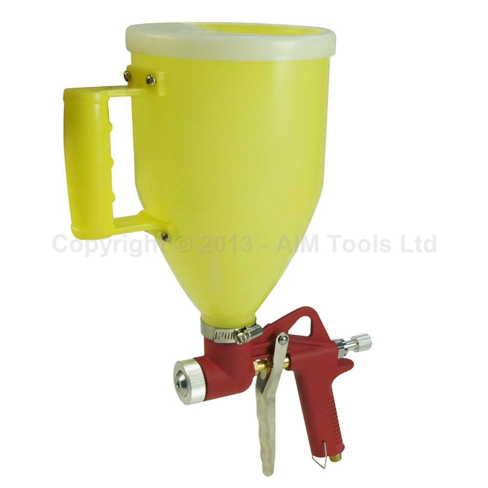 221472 Gravity Feed Texture Air Spray Gun 3 Liters, Plastic Cup