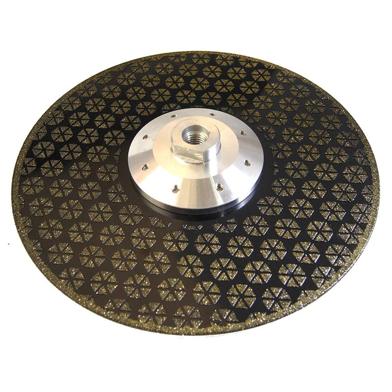 Ceramic Cutting Grinding Diamond Blade 230Mm Electroplated With Flange M14