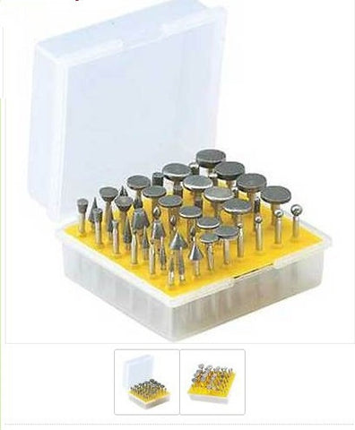 124307 50PCs Electroplated Diamond Burr Set 3mm Shank