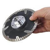 141210 Professional Diamond Cutting Disc W/Flange 115mm