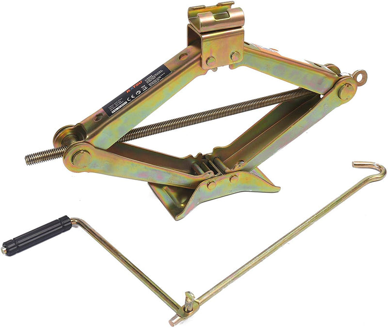 KATSU 2 Ton Scissor Wind Up Car Lifting Screw Jack