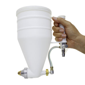 221474 Cement Sprayer Stucco Hopper Exterior Texture Paint Spray Gun