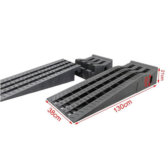 161921 Plastic Car Ramps Extra Long Wide 130x38x210
