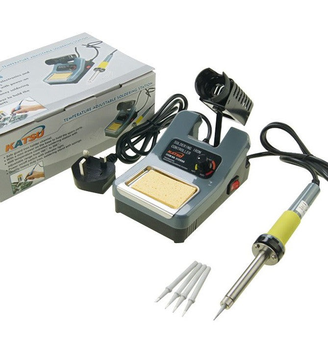 Electric Thermostat Soldering Station 48W With 4 Tips