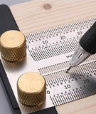 31349 Wood Ruler Scriber With Pencil