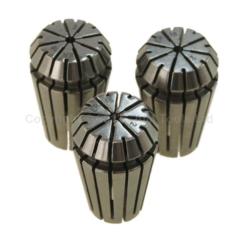 Individual Premium Collet Chuck ER16 Size 1 to 9mm