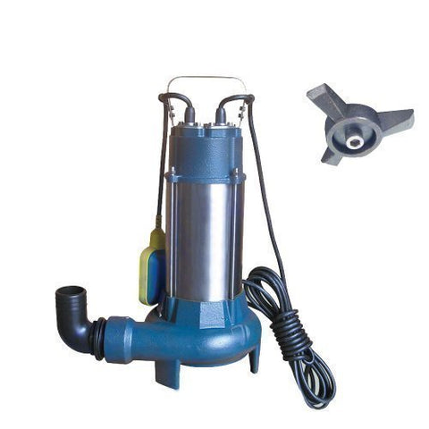 151614 Heavy Duty 1.1kw Submersible Sewage Water Pump With Shredder