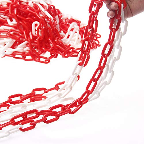 Red & White Barrier Plastic Chain