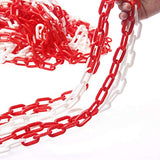 99093 Red & White Barrier Plastic Chain