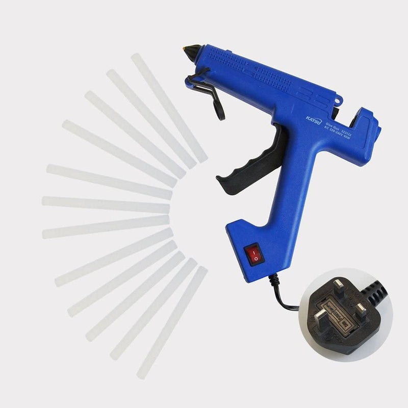 Professional Glue Gun Electric Heating Melt Gun With 12 Sticks 60W