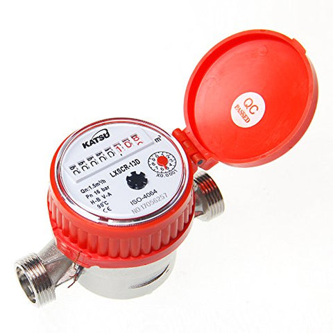 15180913 Hot Water Flow Meter Brass 15mm Dry Dial