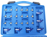 449853 Diesel Injector Flow Test Meter Adaptor Set Common Rail 6 Cylinder Garage Tool