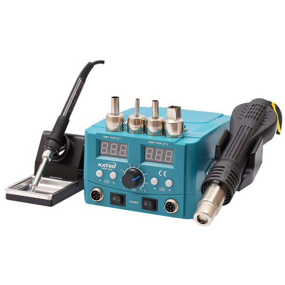 312080 KATSU Soldering Iron Station W/ Electric Heating Gun