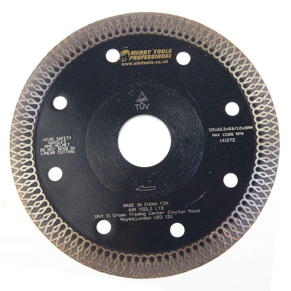 141272 Ultra Thin Professional Diamond Cutting Disc W/Flange 115mm