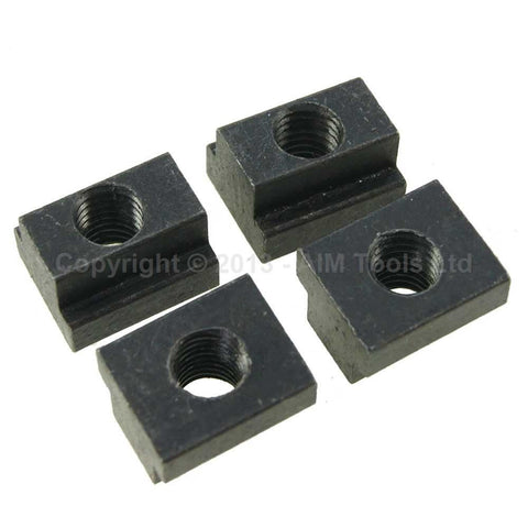 402220 4PC T Shape Machine Clamping Nuts 8 to 20mm