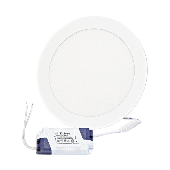 77370110 White LED Panel Light Round 15W