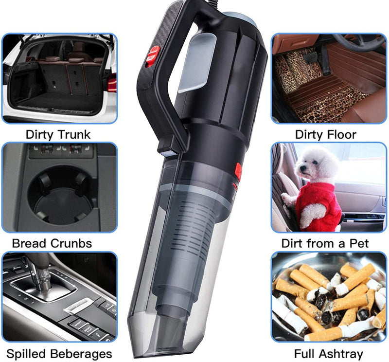 Car Vacuum Cleaner Blower 2 IN 1 12V Black & Red